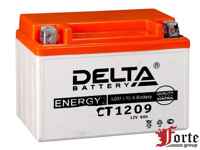 Аккумуляторы для мото. стартерные Delta Battary CT 1209