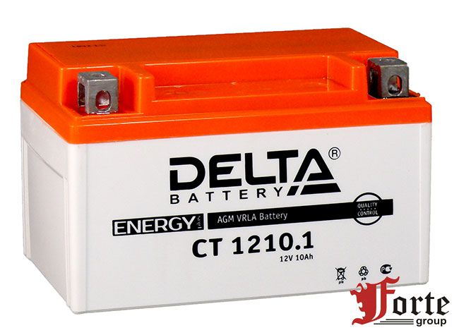 Аккумуляторы для мото. стартерные Delta Battary CT 1210.1