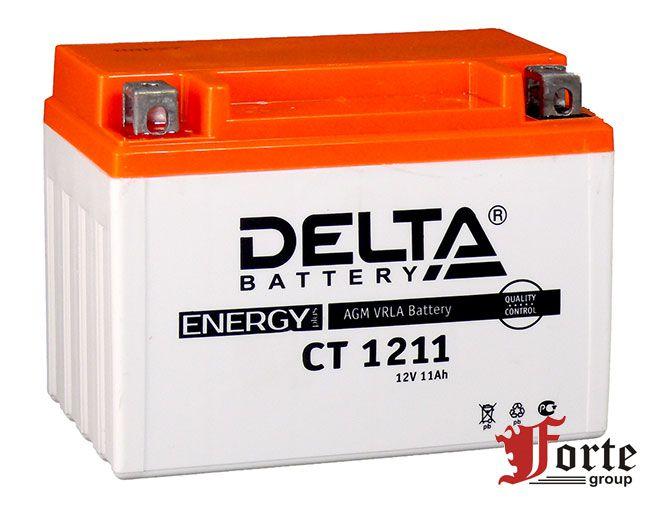 Аккумуляторы для мото. стартерные Delta Battary CT 1211
