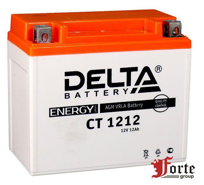 Аккумуляторы для мото. стартерные Delta Battary CT 1212