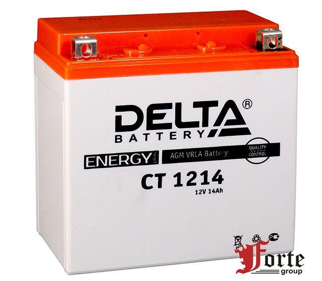 Аккумуляторы для мото. стартерные Delta Battary CT 1214