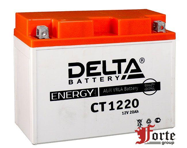 Аккумуляторы для генероторов мотоциклов квадроциклов Delta Battary CT 1220