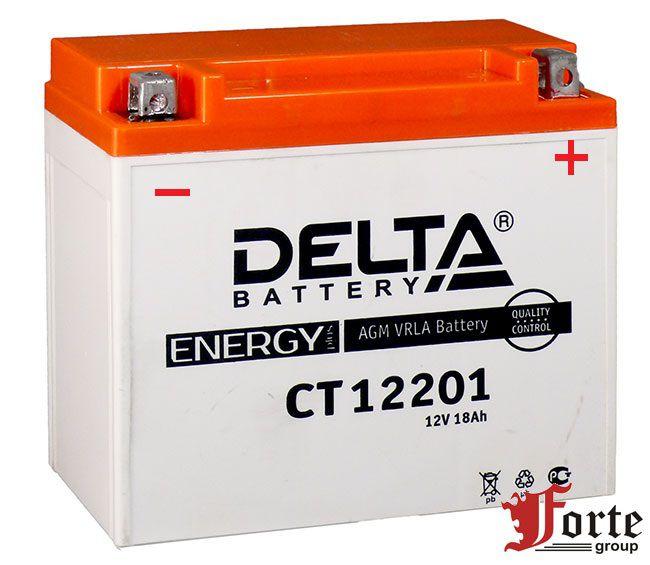Аккумуляторы для мото. стартерные Delta Battary CT 12201