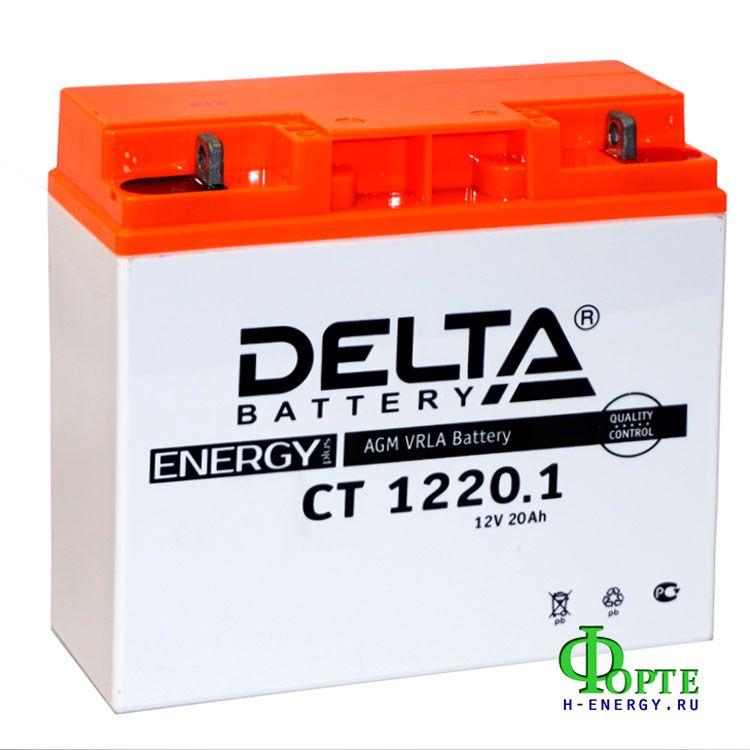 мотоаккумулятор 20 Ач 12 В Delta Battary CT 1220.1