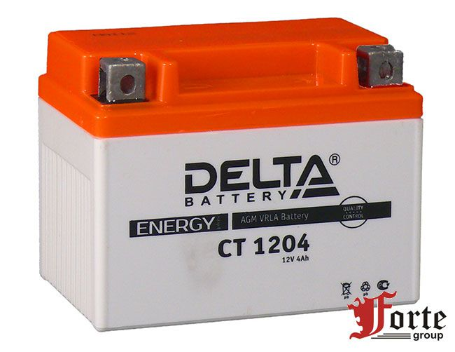 Аккумуляторы для мото, скутеров стартерные Delta Battary CT 1204