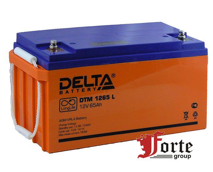 Аккумулятор для ибп (ups) Delta DTM 1265L