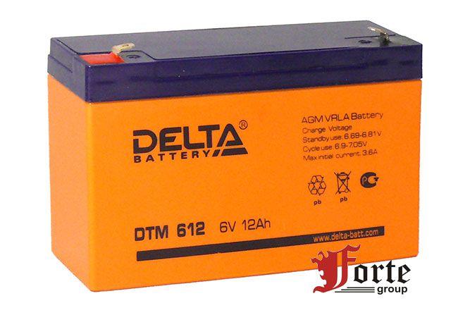 Аккумулятор 6 вольт Delta DTМ 612