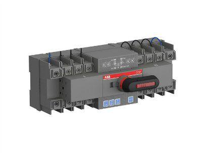 Реверсивный рубильник с моторным приводом OTM63F4C20D400C с блоком АВР 20D четырех полюсный на 63 ампера 1SCA151254R1001