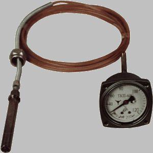 Термометр манометрический конденсационный показывающий ТКП-60С с длиной капилляра от 1,6 до 2,5 м.