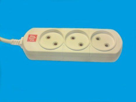 Удлинитель ITP U 03 (2x1,00), 3 розетки, без кнопки, 16А, шторки