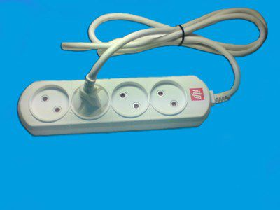 Удлинитель ITP U 04 (2x1,5), 4 розетки, без кнопки, 16А, шторки