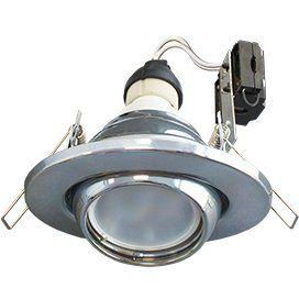 Светильник GU10 FT3011 встраиваемый поворотный хром 40x110