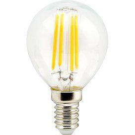 Светодиодный шар нитевидный Premium 5,0W G45 220V E14 2700K 360° filament прозрачный 78х45