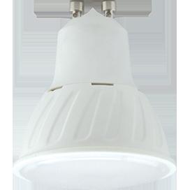 Светодиодная лампа рефлектор GU10 10W 2800K (композит) 57x50 Ecola ЭКОЛА