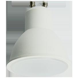 Светодиодная лампа рефлектор GU10 8W 2800K матовое стекло (композит) 57x50 Ecola ЭКОЛА