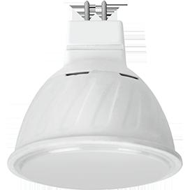 Светодиодная лампа рефлектор MR16 Premium 10W GU5.3 2800K матовое стекло (композит) 51x50