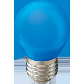 Светодиодная лампа цветная шар LED color 5W E27 Красный,синий, зеленый, желтый. матовая колба 77x45