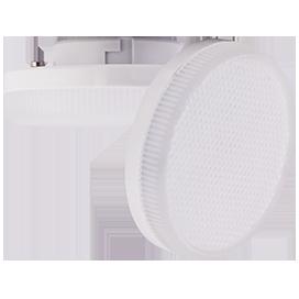 Светодиодная лампа GX53 6,0W Tablet 220V 2800K/4200К матовое стекло (композит) 27x75