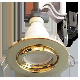 Светильник GU10 FT3008 светильник встраиваемый поворотный золото 40x105