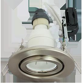 Светильник GU10 FT3008 встраиваемый поворотный сатин-хром 40x105