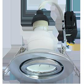 Светильник GU10 FT3008 встраиваемый поворотный хром 40x105