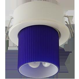 Светильник GX40 DGX40E встраиваемый белый 30x75