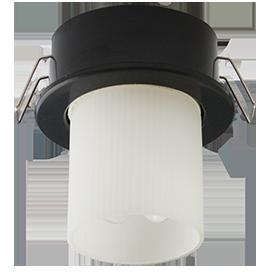 Светильник GX40 DGX40E встраиваемый черный 30x75