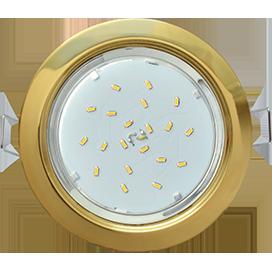 Cветильник встраиваемый Ecola GX53 H4 Золото  38х106 ЭКОЛА