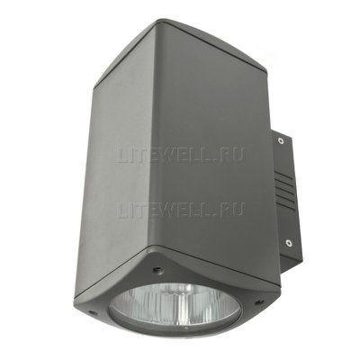 Настенный светильник наружного освещения здания 3066A. Двухсторонний выход света вверх-вниз. Напряжение 220В, мощность 32Вт, IP65, настенное крепление.