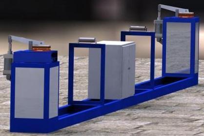 Установка для электротермического удлинения арматурных стержней СМЖ-НТ 129-7,5.