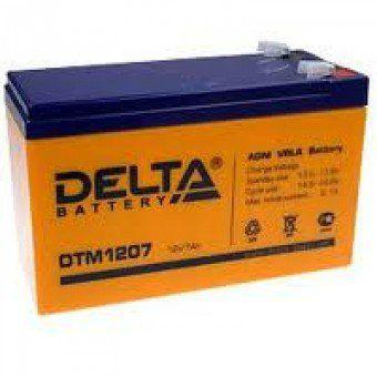 Аккумулятор свинцовый AGM 12В 7.2Ач DTM1207 Габариты: 151x65x94(100) мм. Вес: 2.62 кг