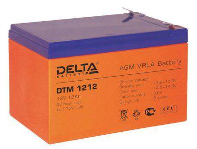 Аккумулятор свинцовый AGM 12В 12Ач DTM1212 Габариты: 151x98x95(101) мм. Вес: 3.8 кг