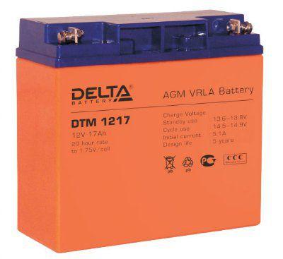 Аккумулятор свинцовый AGM 12В 17Ач DTM1217 Габариты: 181x77x167 мм. Вес: 5.7 кг