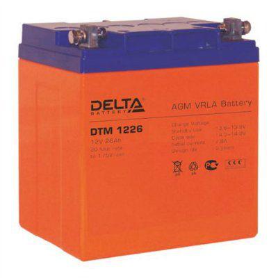 Аккумулятор свинцовый AGM 12В 26Ач DTM1226 Габариты: 166x175x125 мм. Вес: 9.95 кг