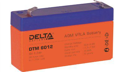 Аккумулятор 6V 1.2Ah DTM6012