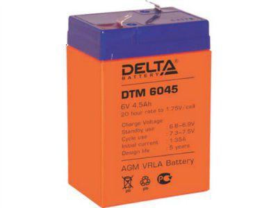 Аккумулятор 6V 4.5Ah DTM6045