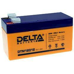Аккумулятор свинцовый AGM DTM12012 12В 1.2Ач. Габариты: 97x43x52(58) мм. Вес: 0.61 кг