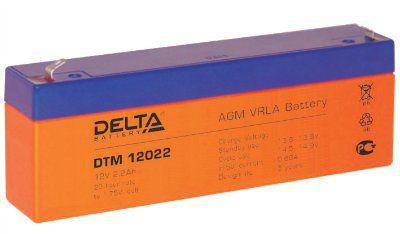 Аккумулятор 12V 2.2Ah DTM12022 Габариты: 178x35x61 мм. Вес: 0.99 кг