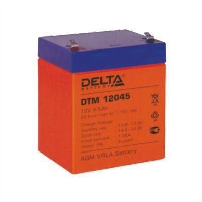Аккумулятор 12V 4.5Ah DTM12045 Габариты: 90x70x107 мм. Вес: 1.63 кг