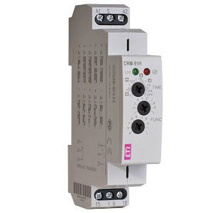 Многофункциональное реле времени ETR-10. Аналог CRM-91H UNI. 10 функций, универсальное питание, один перекидной контакт 16А.