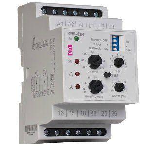 Реле контроля трёхфазного напряжения HRN-43N 230V AC Uпит. 230В AC, 3x400V/230V, 16A AC1, 2 перекидных контакта