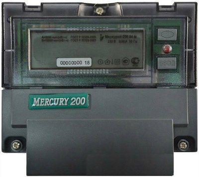 Меркурий-200.02 5-60А; 230В; 1,0 - счетчик 1-фазный многотарифный