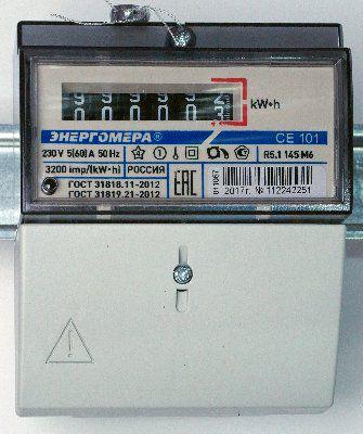 СЕ101 R5.1 145 M6 - счетчик однофазный однотарифный 5-60А