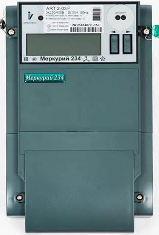 Меркурий 234 ART2-03 PB.R 5-10А; 3*230/400В; 0,5s/1,0 - трехфазный двунаправленный многотарифный счетчик активно-реактивной энергии