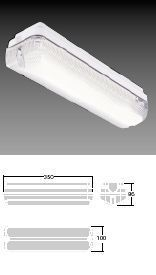 Аварийный светильник IP65 VOYAGER ECONOMY 1x8 Вт T16 E3M THORN