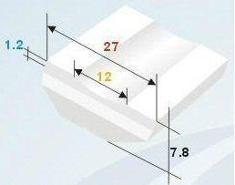 Керамические подкладки для сварки плоские, цвет белый