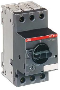 Автоматический выключатель MS116-0.16 50 кА с регулируемой тепловой защитой | арт. SST1SAM250000R1001 | ABB