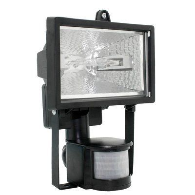 Галогенный прожектор ИО500Д, 500Вт, датчик движения, IP54, цвет черный, 185x285x128 (ШхВхГ) | арт. LPI02-1-0500-K02  | ИЭК