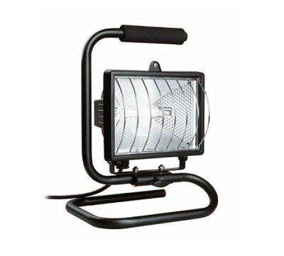 Галогенный прожектор ИО150П (переноска), 150Вт, IP54, цвет черный, 180x240x160 (ШхВхГ)   арт.  LPI03-1-0150-K02   ИЭК