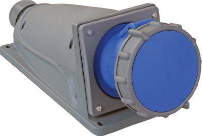 Силовая стационарная розетка для открытой проводки ССИ-134 серии MAGNUM, 3Р+РЕ, 63А, 380В, IP67 | арт. PSN12-063-4 | ИЭК